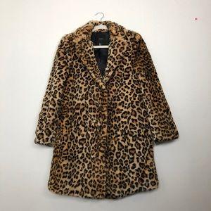 Forever 21 cheetah coat SZ small
